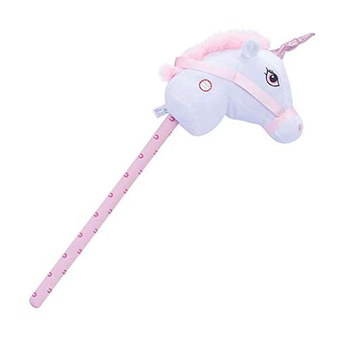 Unicorn Hobby Horse | Giddy Up | 75cm | White & Pink