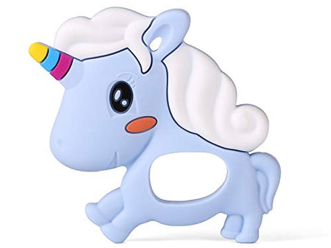 Unicorn Teething Toy for Baby (Blue)