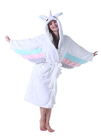 Pegasus Unicorn Dressing Gown | Fluffy Hoodie Bathrobes | Women's
