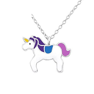 So Chic Jewels - Children's 925 Sterling Silver Unicorn Necklace