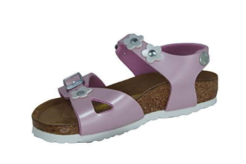 Birkenstock Girls' Unicorn Sandals Rio - Unicorn, Rainbow, Stars, Pink, Summer
