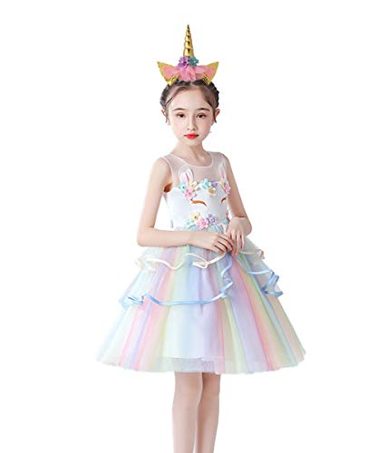 Unicorn Dress Up Special Occasion Birthday Dress (Sizes: 2-8 Years)