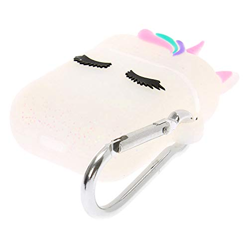 White Unicorn Ear Bud Case Claires