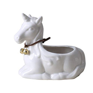 Unicorn plant pot white