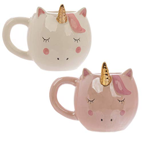 Enchanted Unicorn Ceramic Shaped Mug - Pink