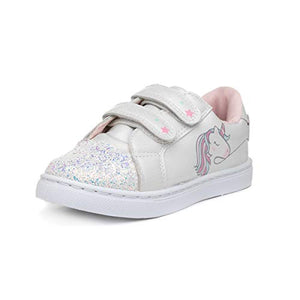 Buckle My Shoe Kids White Unicorn Trainer | Child