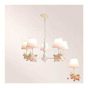 Unicorn Pink Chandelier 5 Lamp