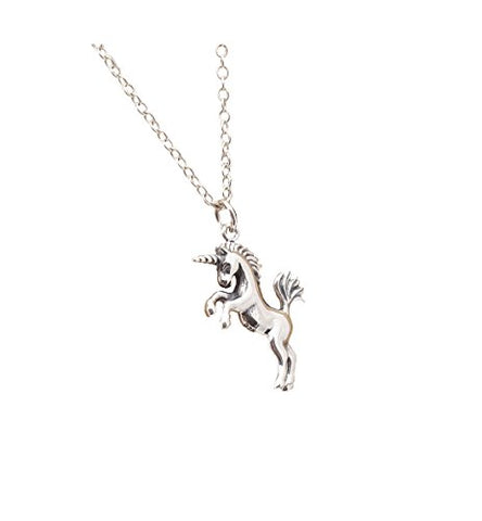 Sterling Silver Realistic Unicorn Pendant Necklace