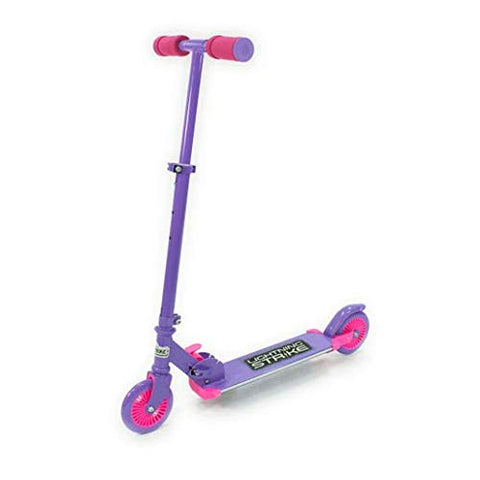 OZBOZZ Purple & Pink Lightning Strike Scooter With Motion Activated Lights