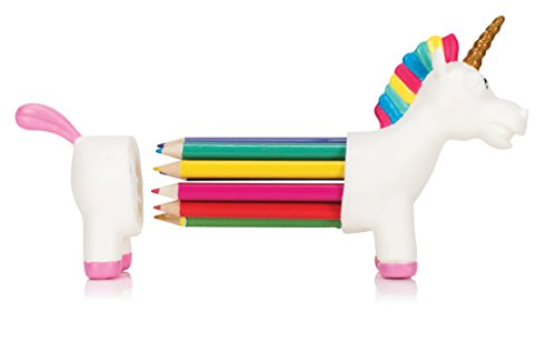 NPW Colouring Pencils / Pencil Crayons Pencil Holder Set - 10 Assorted Colours Unicorn Rainbow Pencils