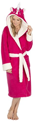 474647a805 KATE MORGAN Ladies Luxury Soft   Cosy Hooded Dressing Gown (Medium ...