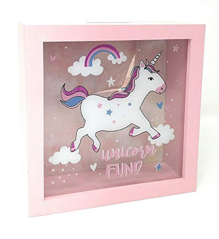 unicorn money box picture frame see through