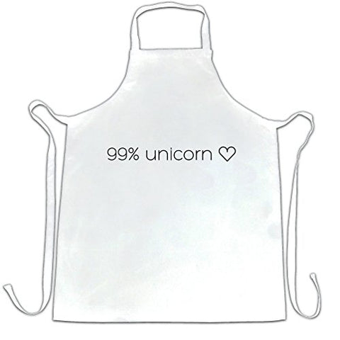 99% Unicorn Heart Apron Perfect Gift For A Unicorn Lover