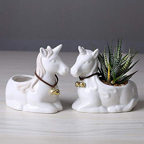 Unicorn plant pot set of 2