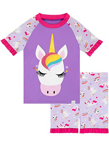 Harry Bear Girls Unicorn Swim Set Purple Ages Various