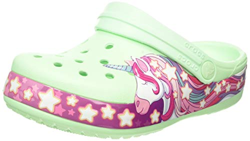 Crocs Unicorn Clog, Mint Green, Purple kids