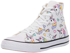 Converse Chuck Taylor All Star Junior Unicorn/Rainbow Hi Trainers