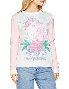 Unicorn Design Christmas Jumpers | Women's | Pink