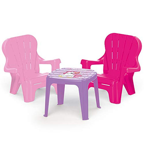 Unicorn Themed Kids Girls Table & Chair Set Pink