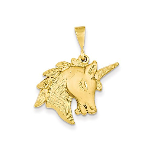 unicorn charm for necklace - gold