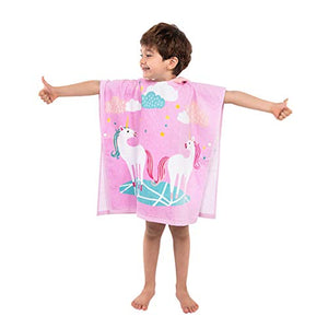Hooded Poncho Unicorn Bath Towels | Children's | 100% Cotton