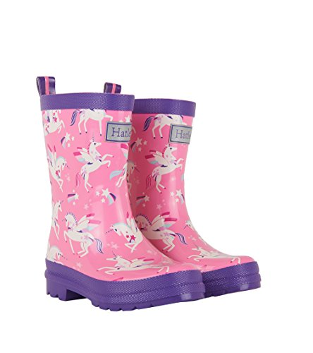 Amazing, trendy - Flying magical unicorn welly boots wellington boots, pink