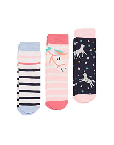 Joules Girl's | Unicorn Horse Socks | 6-8.5