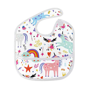 Multi Coloured Unicorn Food Catcher Bib