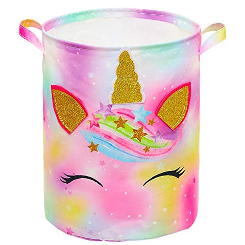 Unicorn Laundry Hamper 43.3L | Waterproof Storage Basket | Collapsible | For Kids