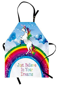 Unicorn Rainbow Unisex Apron | Cooking, Baking, Gardening | Multicolour