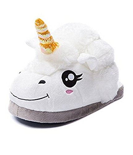 HENGSONG Slipper Shoes Unicorn Funny Novelty Animal Home Slippers Plush Super Soft and Comfortable UK3-7,Adult