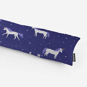 Draught Excluder Unicorn Stars Blue White Various Sizes, Grey-Coloured, 90cm
