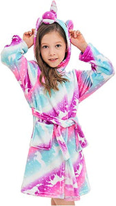 Girls Soft Unicorn Dressing Gown |  Pink, Purple, Turquoise