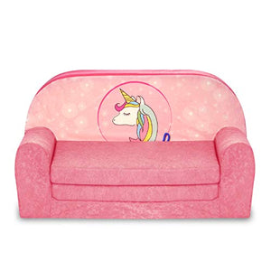 FORTISLINE Children's Sofa Kids Sofa Bed Child Unicorn W386_44