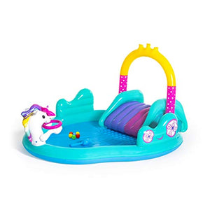 Bestway | Magic Unicorn Paddling Pool With Slide | 274 x 198 x 137 cm