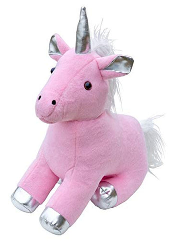Pink Unicorn Door Stop With Silver Hooves & Horn