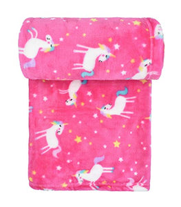 Pink Babies Pram Unicorn Blanket | Soft & Snuggly Fleece