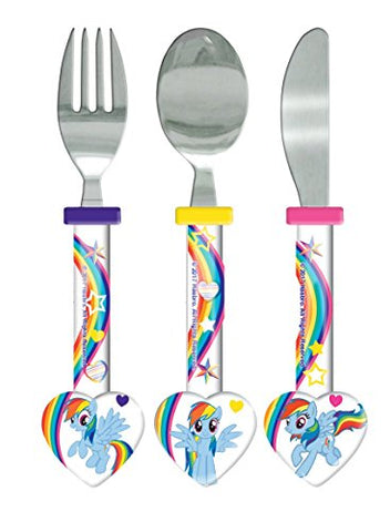 My Little Pony Cutlery Set, 3 piece, Knife/Fork/Spoon, Multi-colour