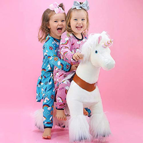 PonyCycle | Ride on Unicorn Toy | Plush Walking Animal | Age 3-5years | Official Classic U Series