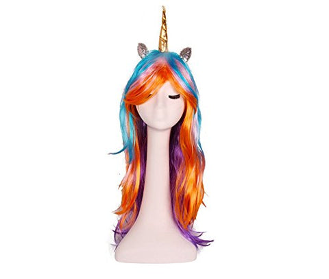 Unicorn wig band with gold horn