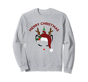Merry Christmas Unicorn Reindeer Sweatshirt | Jumper | Women & Girls