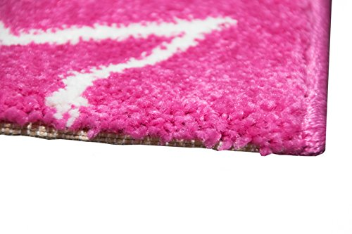 Girls Pink Unicorn Rug - Size 80 x 150cm