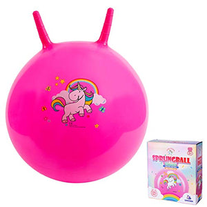 Hot Pink Unicorn Space Hopper | Age 3 Plus | 18 inch (Pink)