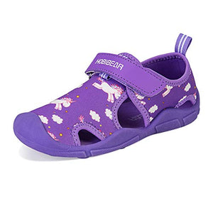Kids Water Shoes | Closed Toe Aqua Sandal | Purple