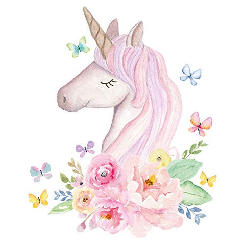 Floral Unicorn Wall Sticker