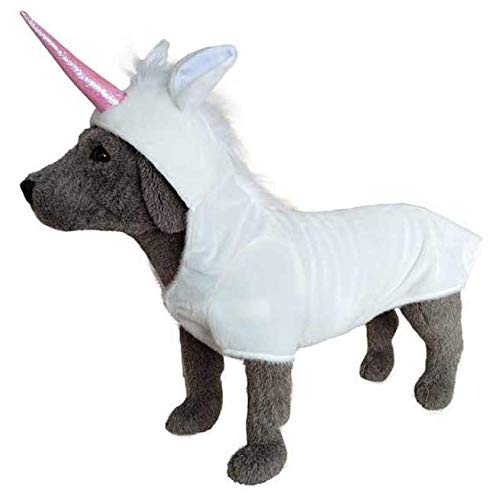 Adorable White Mane with Pink Horn Unicorn Costume for Dogs - XXL