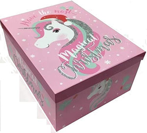 Small Unicorn Christmas Eve Box | X-Mas | Pink