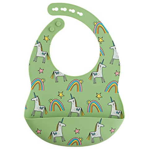 Silicone Unicorn Bib | Green