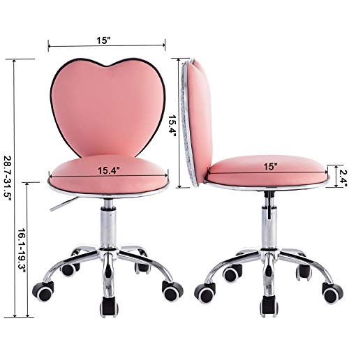 Pink Heart Shaped Unicorn Computer Work Chair