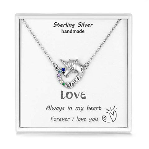 Beautiful Unicorn Love Pendant In Gift Box | For Women & Girls
